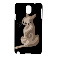 Brown Abstract Cat Samsung Galaxy Note 3 N9005 Hardshell Case by Valentinaart