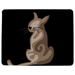 Brown Abstract Cat Jigsaw Puzzle Photo Stand (rectangular) by Valentinaart