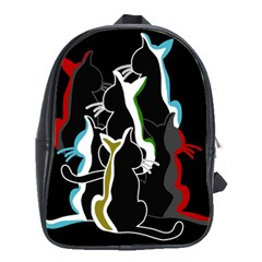Street Cats School Bags(large)  by Valentinaart