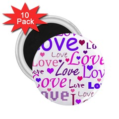 Love Pattern 2 25  Magnets (10 Pack)