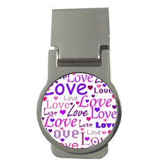 Love Pattern Money Clips (round)  by Valentinaart