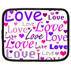 Love Pattern Netbook Case (large)