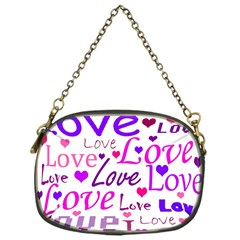 Love Pattern Chain Purses (one Side)  by Valentinaart