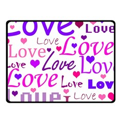 Love Pattern Fleece Blanket (small)