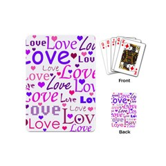 Love Pattern Playing Cards (mini)  by Valentinaart