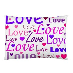 Love Pattern Pillow Case (two Sides) by Valentinaart