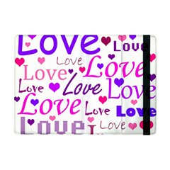 Love Pattern Apple Ipad Mini Flip Case by Valentinaart