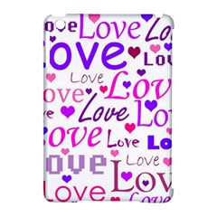 Love Pattern Apple Ipad Mini Hardshell Case (compatible With Smart Cover) by Valentinaart