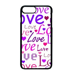 Love Pattern Apple Iphone 7 Plus Seamless Case (black) by Valentinaart