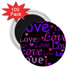 Love Pattern 2 2 25  Magnets (100 Pack)  by Valentinaart