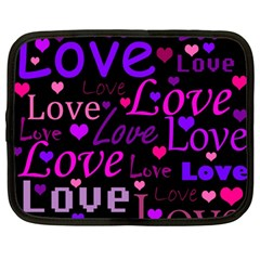 Love Pattern 2 Netbook Case (large) by Valentinaart