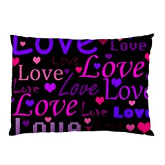 Love Pattern 2 Pillow Case (two Sides) by Valentinaart
