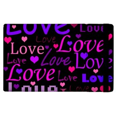 Love Pattern 2 Apple Ipad 3/4 Flip Case by Valentinaart