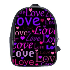 Love Pattern 2 School Bags (xl)  by Valentinaart