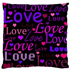 Love Pattern 2 Large Flano Cushion Case (two Sides) by Valentinaart