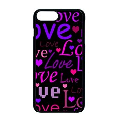 Love Pattern 2 Apple Iphone 7 Plus Seamless Case (black) by Valentinaart