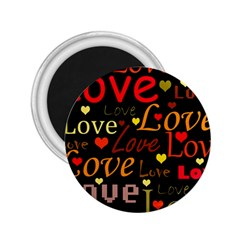 Love Pattern 3 2 25  Magnets by Valentinaart