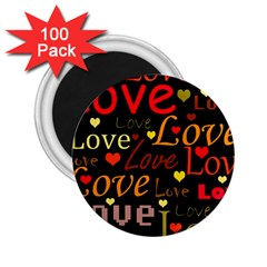 Love Pattern 3 2 25  Magnets (100 Pack)  by Valentinaart