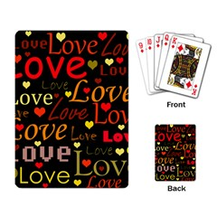 Love Pattern 3 Playing Card by Valentinaart
