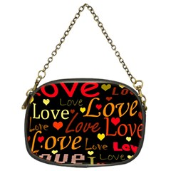 Love Pattern 3 Chain Purses (one Side)  by Valentinaart