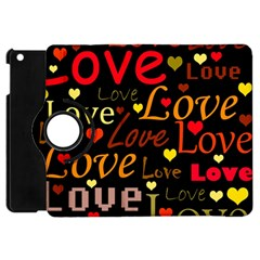 Love Pattern 3 Apple Ipad Mini Flip 360 Case by Valentinaart