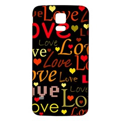Love Pattern 3 Samsung Galaxy S5 Back Case (white) by Valentinaart