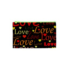 Love Pattern 3 Cosmetic Bag (xs) by Valentinaart