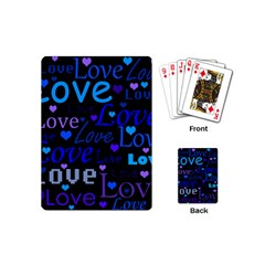 Blue Love Pattern Playing Cards (mini)  by Valentinaart