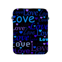 Blue Love Pattern Apple Ipad 2/3/4 Protective Soft Cases by Valentinaart