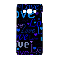 Blue Love Pattern Samsung Galaxy A5 Hardshell Case