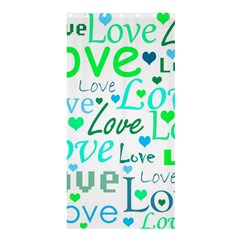 Love Pattern   Green And Blue Shower Curtain 36  X 72  (stall)  by Valentinaart