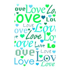 Love Pattern   Green And Blue Shower Curtain 48  X 72  (small)  by Valentinaart