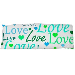 Love Pattern   Green And Blue Body Pillow Case Dakimakura (two Sides) by Valentinaart