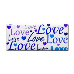 Blue And Purple Love Pattern Cosmetic Storage Cases by Valentinaart