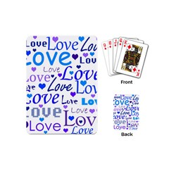 Blue And Purple Love Pattern Playing Cards (mini)  by Valentinaart
