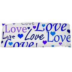 Blue And Purple Love Pattern Body Pillow Case Dakimakura (two Sides) by Valentinaart