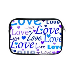 Blue And Purple Love Pattern Apple Ipad Mini Zipper Cases by Valentinaart
