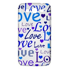 Blue And Purple Love Pattern Samsung Galaxy Mega 5 8 I9152 Hardshell Case  by Valentinaart