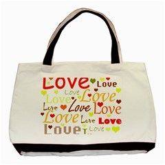 Valentine s Day Pattern Basic Tote Bag (two Sides) by Valentinaart