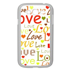 Valentine s Day Pattern Samsung Galaxy Grand Duos I9082 Case (white) by Valentinaart
