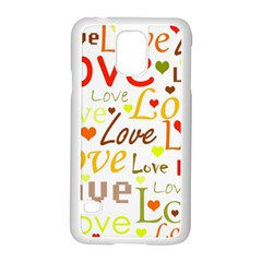 Valentine s Day Pattern Samsung Galaxy S5 Case (white)
