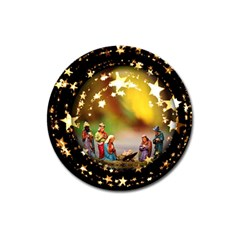 Christmas Crib Virgin Mary Joseph Jesus Christ Three Kings Baby Infant Jesus 4000 Magnet 3  (round) by yoursparklingshop