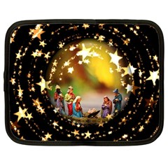 Christmas Crib Virgin Mary Joseph Jesus Christ Three Kings Baby Infant Jesus 4000 Netbook Case (xxl)  by yoursparklingshop