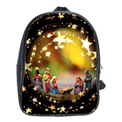 Christmas Crib Virgin Mary Joseph Jesus Christ Three Kings Baby Infant Jesus 4000 School Bags(large)  by yoursparklingshop
