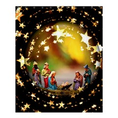 Christmas Crib Virgin Mary Joseph Jesus Christ Three Kings Baby Infant Jesus 4000 Shower Curtain 60  X 72  (medium)  by yoursparklingshop
