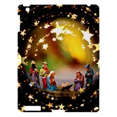Christmas Crib Virgin Mary Joseph Jesus Christ Three Kings Baby Infant Jesus 4000 Apple Ipad 3/4 Hardshell Case by yoursparklingshop