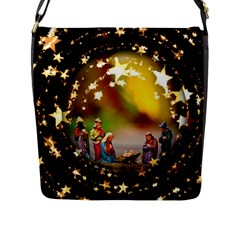 Christmas Crib Virgin Mary Joseph Jesus Christ Three Kings Baby Infant Jesus 4000 Flap Messenger Bag (l)  by yoursparklingshop