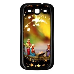 Christmas Crib Virgin Mary Joseph Jesus Christ Three Kings Baby Infant Jesus 4000 Samsung Galaxy S3 Back Case (black) by yoursparklingshop