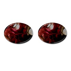Dark Red Candlelight Candles Cufflinks (oval) by yoursparklingshop