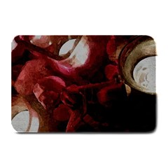 Dark Red Candlelight Candles Plate Mats by yoursparklingshop